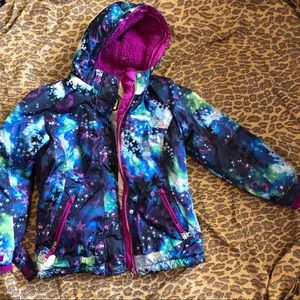 ZERO X POSUR GIRLS SKI JACKET MULTI COLOR W/HOOD M